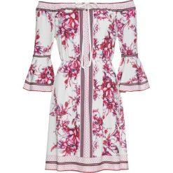Sukienki: Sukienka z dżerseju w kwiaty bonprix kremowy w kwiaty