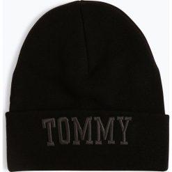 Tommy Jeans - Czapka damska, czarny. Czarne czapki damskie Tommy Jeans, z haftami, z jeansu. Za 179,95 zł.