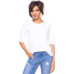 """Bluzki asymetryczne: Koszulka """"Adam"""" w kolorze białym"""