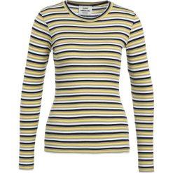 Bluzki asymetryczne: Mads Nørgaard TUBA Bluzka z długim rękawem yellow/grey/navy