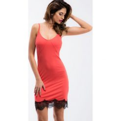 Sukienki: Koralowa bieliźniana sukienka TA6124