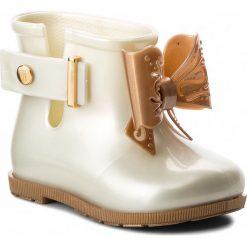 Kalosze dziewczęce: Kalosze MELISSA – Mini Melissa Sugar Rain Bb 32388 White/Gold 53310