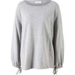 Sweter dzianinowy bonprix jasnoszary melanż. Szare swetry klasyczne damskie bonprix, z dzianiny. Za 37,99 zł.