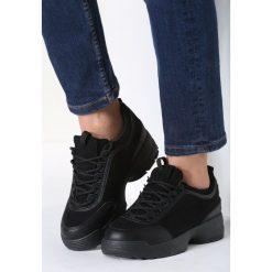 Czarne Sneakersy Nothing Else. Czarne sneakersy damskie marki Born2be, z materiału. Za 49,99 zł.
