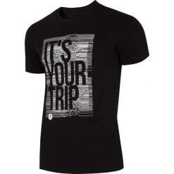 T-shirty męskie z nadrukiem: T-shirt męski TSM012 – głęboka czerń