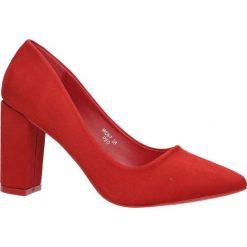 Czerwone czółenka na słupku Casu WD67. Czerwone buty ślubne damskie Casu, na słupku. Za 78,99 zł.