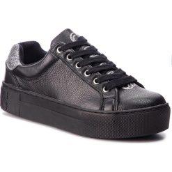 Sneakersy GUESS - FLMEL4 LEA12  BLACK. Czarne sneakersy damskie Guess, z materiału. Za 489,00 zł.