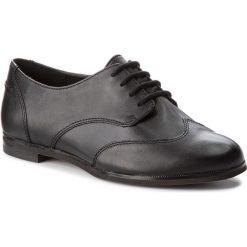 Półbuty CLARKS - Andora Trick 261271524 Black Leather. Czarne półbuty damskie skórzane marki Clarks, na obcasie. W wyprzedaży za 229,00 zł.