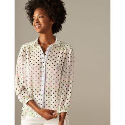 Odzież damska: Koszula w groszki - Biały