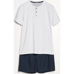Piżama z szortami - Granatowy. Niebieskie piżamy męskie marki Reserved, l. Za 69,99 zł.