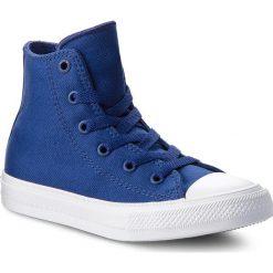 Trampki CONVERSE - Ctas II Hi 350146C Sodalite Blue/White/Navy. Niebieskie trampki chłopięce Converse, z gumy. W wyprzedaży za 149,00 zł.