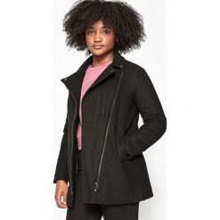 Płaszcz zapinany na zamek błyskawiczny 10-16 lat. Czarne kurtki chłopięce La Redoute Collections, z poliesteru. Za 188,96 zł.