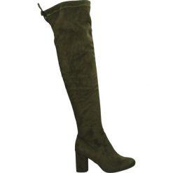 Kozaki - 70066 STR OLI. Brązowe buty zimowe damskie Venezia, z materiału. Za 279,00 zł.