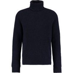 Swetry klasyczne męskie: 120% Cashmere Sweter navy