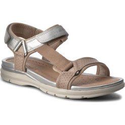 Sandały GEOX - J Sand. Sukie G. D J720VD 05422 CA51W D Skin/Silver. Brązowe sandały damskie Geox, z materiału. Za 289,00 zł.