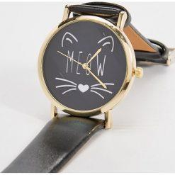 Zegarki damskie: Czarny zegarek na rękę – Czarny