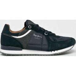 Pepe Jeans - Buty. Czarne buty skate męskie Pepe Jeans, z jeansu, na sznurówki. W wyprzedaży za 279,90 zł.