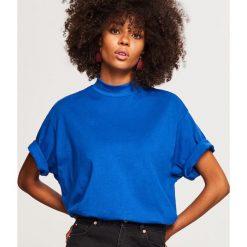T-shirt z krótkimi rękawami - Niebieski. Niebieskie t-shirty damskie Reserved, l. Za 29,99 zł.