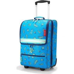 Walizka Trolley Kids XS Cactus Blue. Niebieskie walizki Reisenthel, w kolorowe wzory, z materiału, duże. Za 399,00 zł.