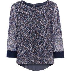 Bluzki damskie: Bluzka bonprix niebieski w kwiaty