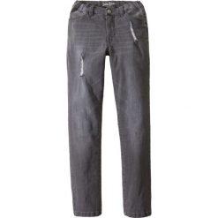 Dżinsy SLIM FIT z wytarciami bonprix szary denim. Szare jeansy męskie relaxed fit marki La Redoute Collections, z bawełny, z standardowym stanem. Za 59,99 zł.