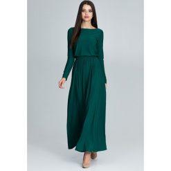 Sukienki hiszpanki: Sukienka maxi m604 zielony