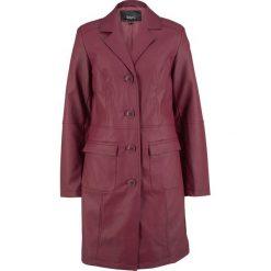 Płaszcz ze sztucznej skóry bonprix czerwony klonowy. Czerwone płaszcze damskie bonprix, ze skóry. Za 239,99 zł.