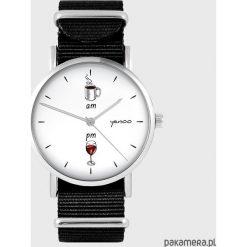 Zegarek - Kawa i wino - czarny, nato. Czarne zegarki damskie Pakamera. Za 129,00 zł.