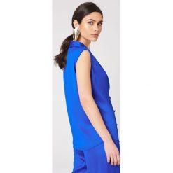 Rut&Circle Kamizelka Ginny - Blue. Niebieskie kamizelki damskie Rut&Circle, z poliesteru. W wyprzedaży za 97,17 zł.