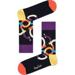 Happy Socks - Skarpety Weiner Dog. Czarne skarpetki męskie Happy Socks, z bawełny. W wyprzedaży za 27,90 zł.