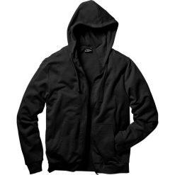 Bluza rozpinana z kapturem Regular Fit bonprix czarny. Czarne bejsbolówki męskie bonprix, l, z dresówki, z kapturem. Za 79,99 zł.