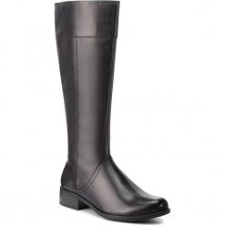 Oficerki CAPRICE - 9-25511-21 Black Nappa 022. Czarne buty zimowe damskie Caprice, z materiału, na obcasie. W wyprzedaży za 289,00 zł.