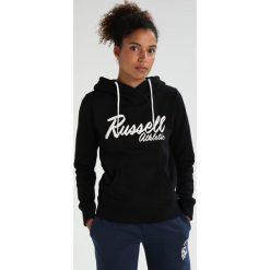 Bluzy rozpinane damskie: Russell Athletic LONG WRAP OVER Bluza z kapturem black