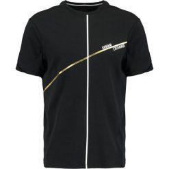 Armani Exchange REGULAR FIT Tshirt z nadrukiem black. Czarne koszulki polo marki Armani Exchange, l, z materiału, z kapturem. Za 229,00 zł.