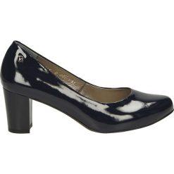 Czółenka - C001 V BL J17. Czarne buty ślubne damskie Venezia, ze skóry. Za 199,00 zł.