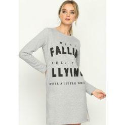 Bluzy damskie: Szara Bluza Falling