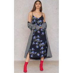 Sukienki hiszpanki: Just Female Sukienka Riba – Black,Purple,Multicolor