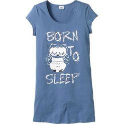Koszula nocna bonprix niebieski - sowa. Niebieskie koszule nocne i halki bonprix. Za 34,99 zł.