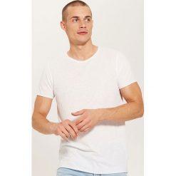 T-shirt basic - Biały. Białe t-shirty męskie marki INESIS, m, z bawełny, z długim rękawem. Za 35,99 zł.