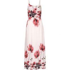 Sukienki: Długa sukienka z nadrukiem bonprix jasnoróżowy wzorzysty
