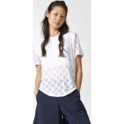 Koszulka adidas Burnout Dots Tee (BK6109). Białe bluzki damskie Adidas, z bawełny, z krótkim rękawem. Za 66,99 zł.