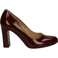Czółenka - 101247 TOS BO. Brązowe buty ślubne damskie Venezia, ze skóry. Za 219,00 zł.