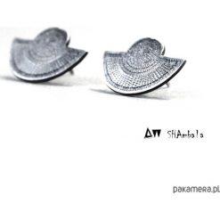 Kolczyki damskie: Srebrne kolczyki sztyfty THOT III