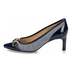 Geox Czółenka Damskie Bibbiana 37 Ciemnoniebieskie. Szare buty ślubne damskie Geox, w paski. W wyprzedaży za 379,00 zł.