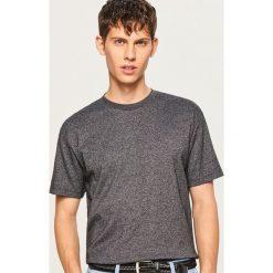 T-shirty męskie: T-shirt z melanżowej dzianiny - Szary