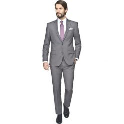 Garnitur layton 306 grafit regular fit. Szare garnitury marki Recman, m, z długim rękawem. Za 489,99 zł.