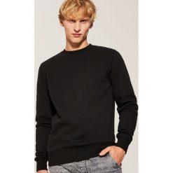 Gładka bluza - Czarny. Czarne bluzy męskie marki House, l, z nadrukiem. Za 59,99 zł.