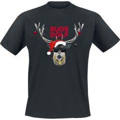Rude Dolf T-Shirt czarny. Czarne t-shirty męskie z nadrukiem Rude Dolf, s, z okrągłym kołnierzem. Za 74,90 zł.