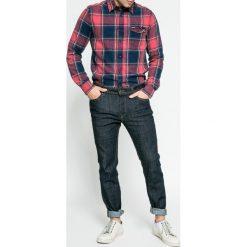 Jack & Jones - Jeansy. Czarne jeansy męskie slim marki Jack & Jones, l, z bawełny, z okrągłym kołnierzem. W wyprzedaży za 139,90 zł.