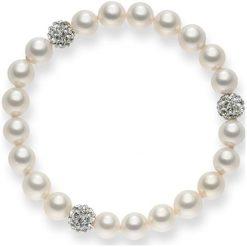 Bransoletki damskie: Bransoletka w kolorze białym z cyrkoniami